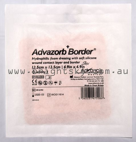 Advazorb Border Silicone Dress 12.5x12.5cm