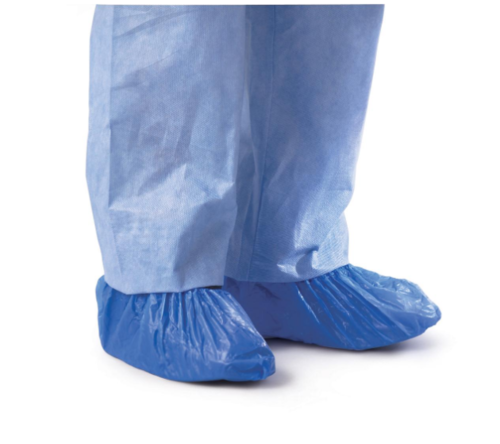 OverShoe Cover Poly blue Cpe One size Fits all Pk100