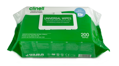 Clinell Universal Wipes Pkt 200