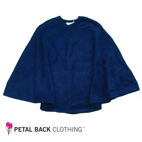 Polar Fleece Day Poncho Navy