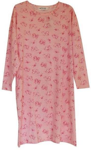 PB Nightie L/S Butterfly Pink Lge