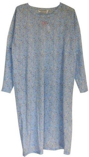 PB Nightie L/S Blue Flora Med