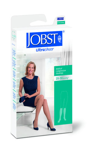 Jobst Hosiery Ultrasheer Knee Length Beige Small 30-40Hg