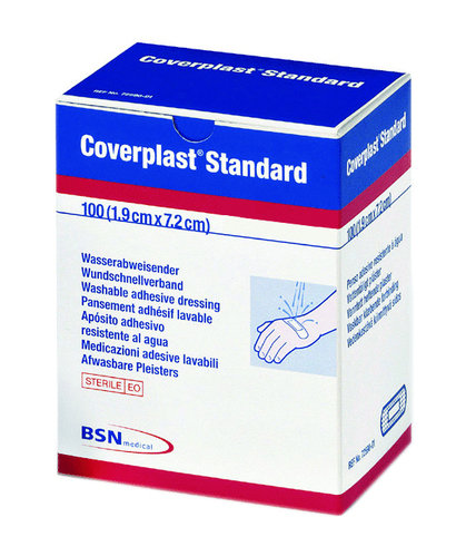 Coverplast Plastic Strips 1.9x7.2cm Pk100