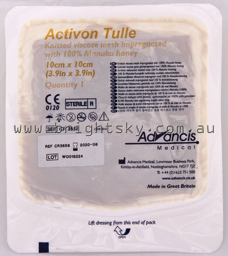 Activon Manuka Honey Dressing 10x10cm