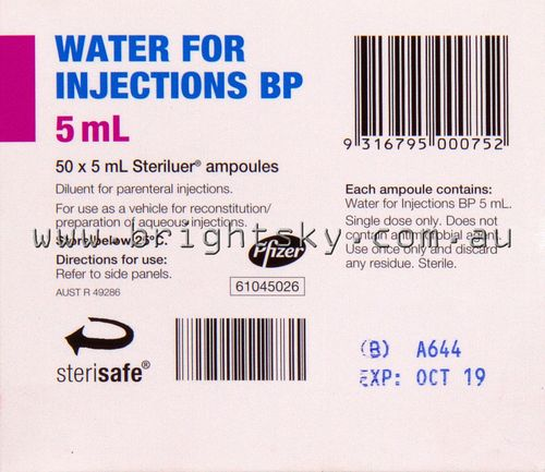 Water For Injection Ampules 5ml Bx50
