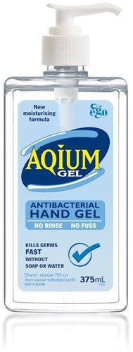 Aqium Antibacterial Hand Gel Pump Pack 375mL