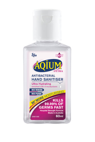 Aqium Ultra Antibacterial Hand Sanitiser 60ml