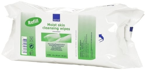 Abena Moist Skin Cleansing Wipes 18*20cm Pk80