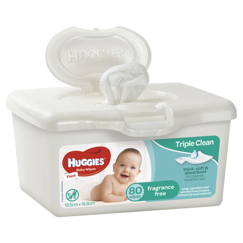 Huggies Baby Wipes Unscented Tub80