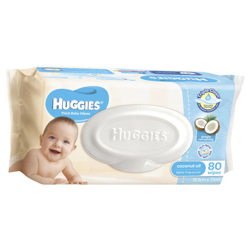 Huggies Baby Wipes Coconut Scented Pk80