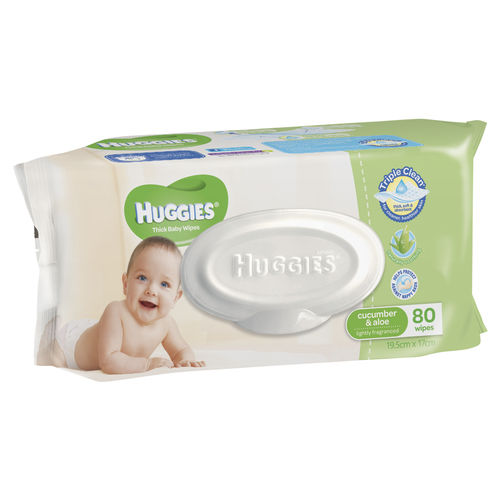 Huggies Baby Wipes Cucumber & Aloe Pk80