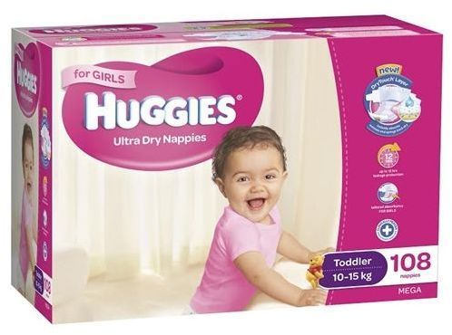 Huggies Toddler Girl Large 10-15kg Pk18