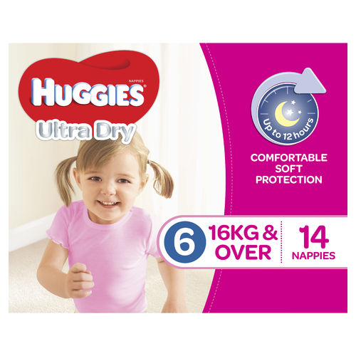 Huggies Junior Girl 16kg + Pk14