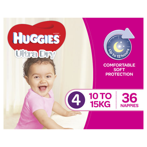 Huggies Nappies Toddler Girl Pk36