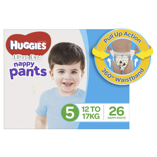Huggies Nappy Pants Walker Boy Pk26
