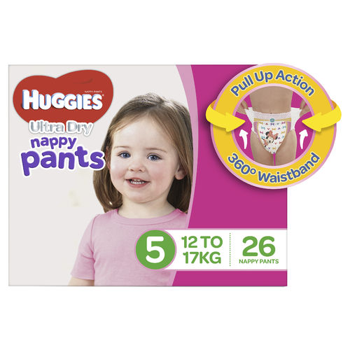 Huggies Nappy Pants Walker Girl Pk26