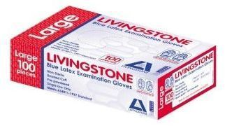 Livingstone Glove Ltx L/Powder Lge Bx100