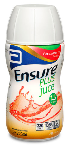 Ensure Plus Juce Strawberry 220ml Bottle
