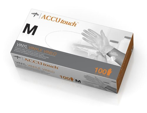 Accutouch PF Vinyl Clear Glove Medium Box100