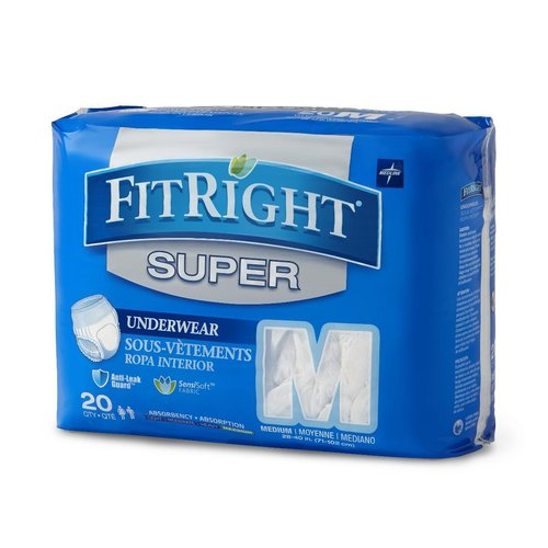 "Fitright Super Disp P/Up MD 28-40"" Pk20"