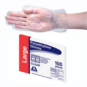 Livingstone N/S Polyethylene Gloves Large