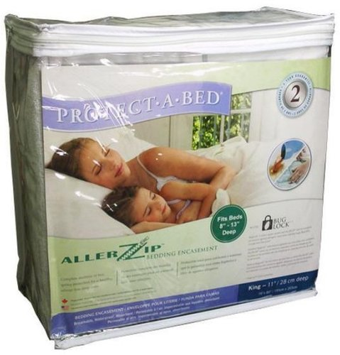Allerzip Encased Mattress Protector King Single