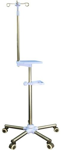 IV Pole With Ext.Wide Base 640mm + Tray