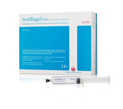 Instillagel 11ml Lidocaine Only Lubricant Syringe