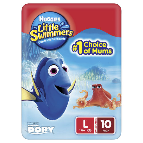 Huggies Little Swimmers Lge 14kg + Pk10