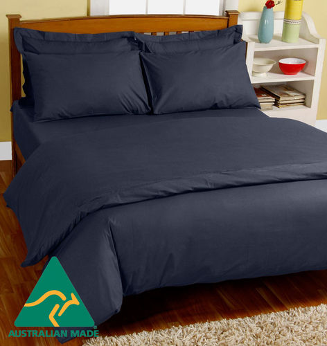 MiNappi Waterproof Doona Cover, Navy, Single
