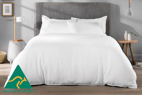 MiNappi Waterproof Doona Cover, White, Queen
