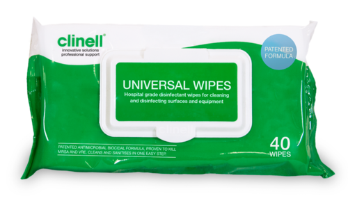 Clinell Universal Wipes Pkt 40