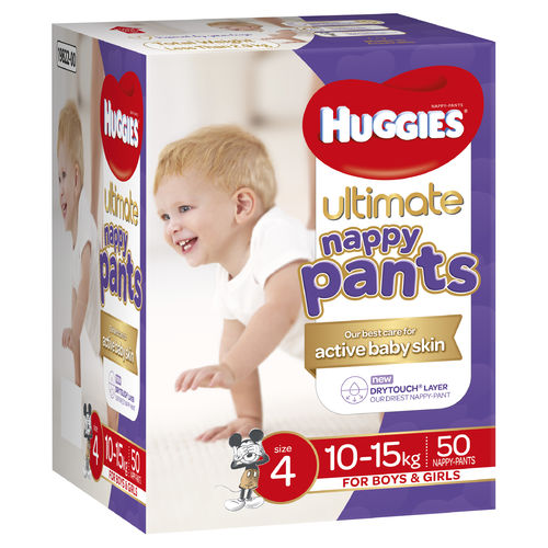 Huggies Ultimate Nappy Pants Size 4 Toddler Ctn50