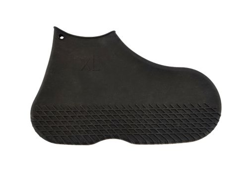 Black Silicon Overshoes Large