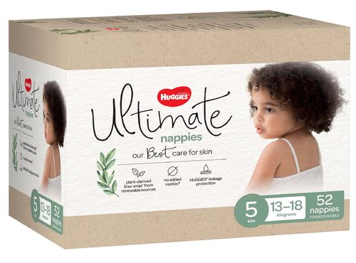 Huggies Ultimate Nappies Size 5 Walker 13-18kg Ctn52
