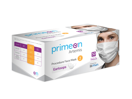 PrimeOn Surgical Face Mask Lvl 2 Ear Loop Bx50